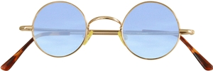Dolomiti Eyewear RC2/S Sunglasses - Colored Tints Shiny Gold with Light Blue Lenses