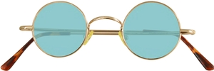 Dolomiti Eyewear RC2/S Sunglasses - Colored Tints Shiny Gold with Light Emerald Blue Lenses