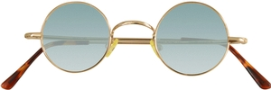 Dolomiti Eyewear RC2/S Sunglasses - Colored Tints Shiny Gold with Gradient Emerald Blue Lenses