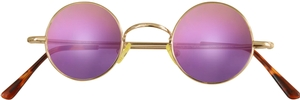 Dolomiti Eyewear RC2/S Sunglasses - Mirrors Shiny Gold with Chicago Purple Mirror Lenses