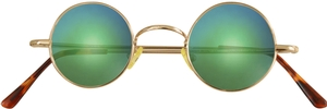 Dolomiti Eyewear RC2/S Sunglasses - Mirrors Shiny Gold with Chicago Green Mirror Lenses