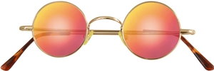 Dolomiti Eyewear RC2/S Sunglasses - Mirrors Shiny Gold with Miami Fire Mirror Lenses