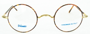 Dolomiti Eyewear RC4/P Shiny Gold/Tortoise with Dark Tortoise Polo Temples