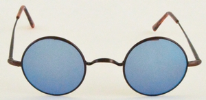Dolomiti Eyewear RC4/S Satin Antique Bronze with Brown/Blue Flash Mirror Lenses