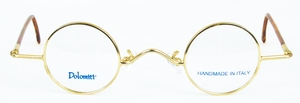 Dolomiti Eyewear RC5 Polo Shiny Gold with Tortoise Polo Temples