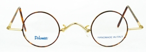 Dolomiti Eyewear RC5 Polo Shiny Gold/Tortoise with Dark Tortoise Polo Temples