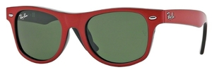 Ray Ban Junior RJ9035S Top Red on Black with Green Lenses