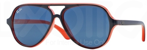 Ray Ban Junior RJ9049S TOP BLUE ON ORANGE w/ Blue Lenses