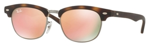 Ray Ban Junior RJ9050S Matte Havana with Copper Flash Lenses