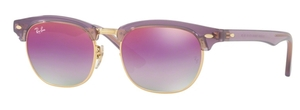 Ray Ban Junior RJ9050S Transparent Violet with Green Mirror Lilac Gradient Violet Lenses