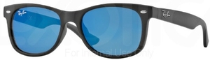 Ray Ban Junior RJ9052S Matte Black w/ Blue Mirror Lenses