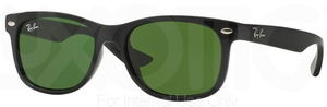 Ray Ban Junior RJ9052S Shiny Black with Green Lenses