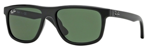 Ray Ban Junior RJ9057S Black with Green Lenses