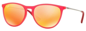 Ray Ban Junior RJ9060S Fuxia Fluo Trasp Rubber w/ Brown Mirror Orange Lenses