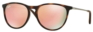 Ray Ban Junior RJ9060S Havana Rubber w/ Light Brown Mirror Pink Lenses