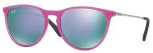 Ray Ban Junior RJ9060S Violet Fluo Trasp Rubber w/ Grey Mirror Violet Lenses