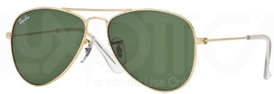 Ray Ban Junior RJ9506S Gold w/ Green Lenses