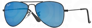 Ray Ban Junior RJ9506S Matte Black w/ Blue Mirror Lenses