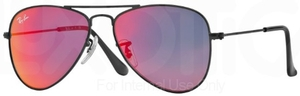 Ray Ban Junior RJ9506S Matte Black w/ Red Multilayer Lenses
