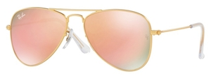 Ray Ban Junior RJ9506S Matte Gold with Copper Flash Lenses
