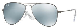 Ray Ban Junior RJ9506S Matte Gunmetal with Grey Flash Lenses