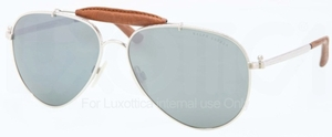 Ralph Lauren RL7045KQ Gold Plated Palladium with Green Mirror Silver Lenses