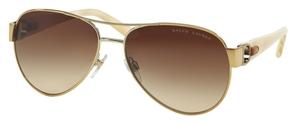 Ralph Lauren RL7047Q Shiny Pale Gold w/ Gradient Brown Lenses