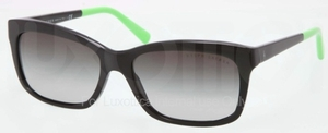 Ralph Lauren RL8093 Black with Grey Gradient Lenses