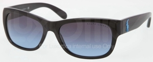 Ralph Lauren RL8106 Black with Blue Gradient Lenses