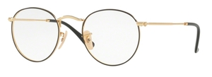 Ray Ban Glasses RX3447V Gold on Top Black