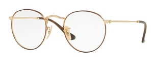 Ray Ban Glasses RX3447V Gold on Top Havana