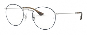 Ray Ban Glasses RX3447V Silver on Top Blue
