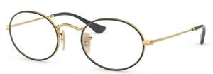 Ray Ban Glasses RX3547V OVAL Gold on Top Black