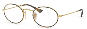 Ray Ban Glasses RX3547V OVAL Gold on Top Havana