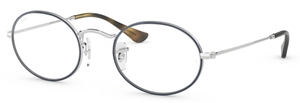 Ray Ban Glasses RX3547V OVAL Silver on Top Blue