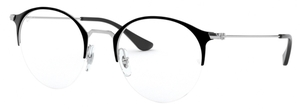 Ray Ban Glasses RX3578V Top Black On Silver