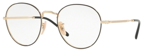 Ray Ban Glasses RX3582V Gold on Top Black