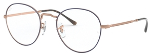 Ray Ban Glasses RX3582V Top Blue on Matte Copper