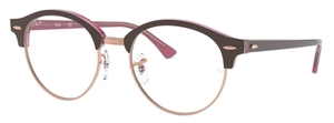 Ray Ban Glasses RX4246V Top Brown on Opal Pink