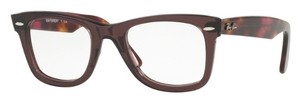 Ray Ban Glasses RX5121 Wayfarer Opal Brown