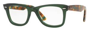 Ray Ban Glasses RX5121 Wayfarer Opal Green