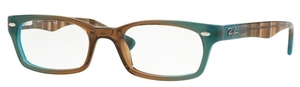 Ray Ban Glasses RX5150 Gradient Brown On Azure