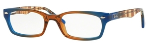 Ray Ban Glasses RX5150 Gradient Brown On Blue