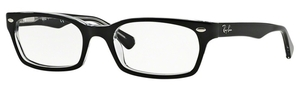 Ray Ban Glasses RX5150 Top Black on Transparent