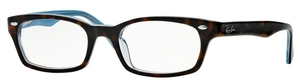 Ray Ban Glasses RX5150 Top Havana on Transparent Azure