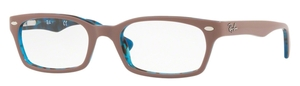 Ray Ban Glasses RX5150 Top Light Brown on Havana Blue