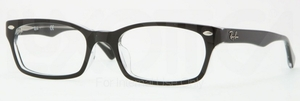 Ray Ban Glasses RX5150F Top Black on Transparent