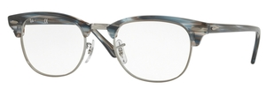 Ray Ban Glasses RX5154 Clubmaster Blue/Grey Striped
