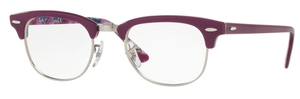 Ray Ban Glasses RX5154 Clubmaster Violet On Texture Camuflage