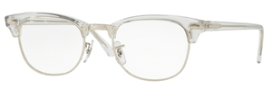 Ray Ban Glasses RX5154 Clubmaster White Transparent